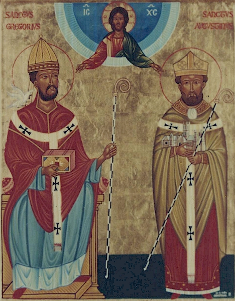 From http://www.allmercifulsavior.com/icons/St_Gregory_and_St_Augustine.jpg