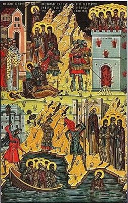 Holy 26 Martyrs of Zographou Monastery icon