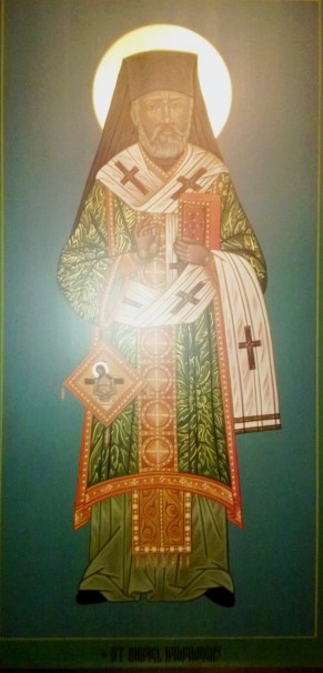 An Icon of Saint Raphael Hawaweeny of Brooklyn, Apostle to the Lost Sheep in America, in the Chapel of Saints Peter and Paul, Antiochian Village