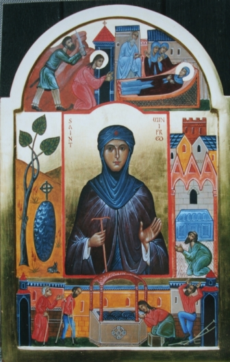 Saint Winifred with Scenes from Her Life