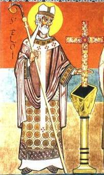 Saint Eloi, Bishop of Noyon in Gaul (France)