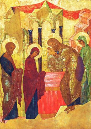 Icon by Saint Andrew Rublev