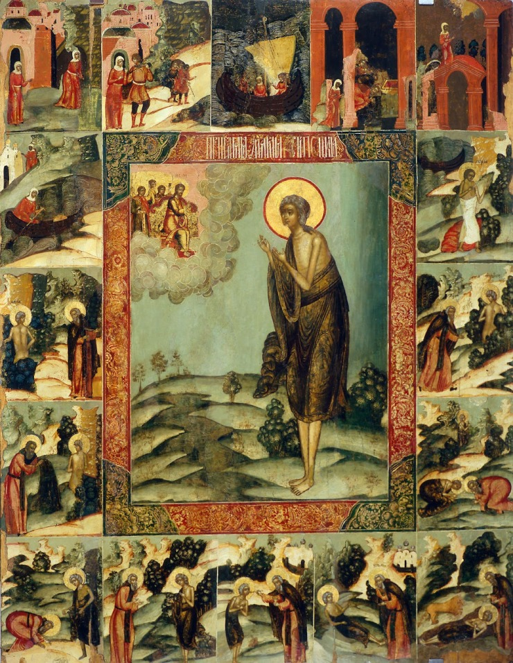 Saint Mary of Egypt with Scenes from Her Life Icon