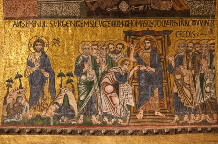 """Appearances after the Resurrection as depicted in the Basilica di San Marco in Venice, Italy."""